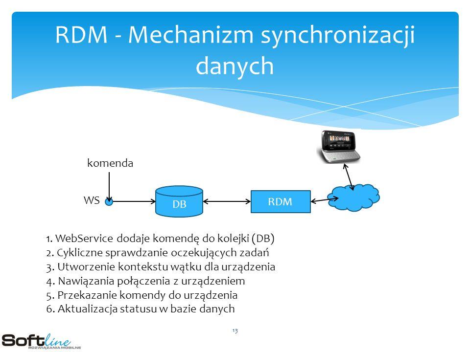 RDM - Mechanizm synchronizacji danych DB RDM WS komenda 1.