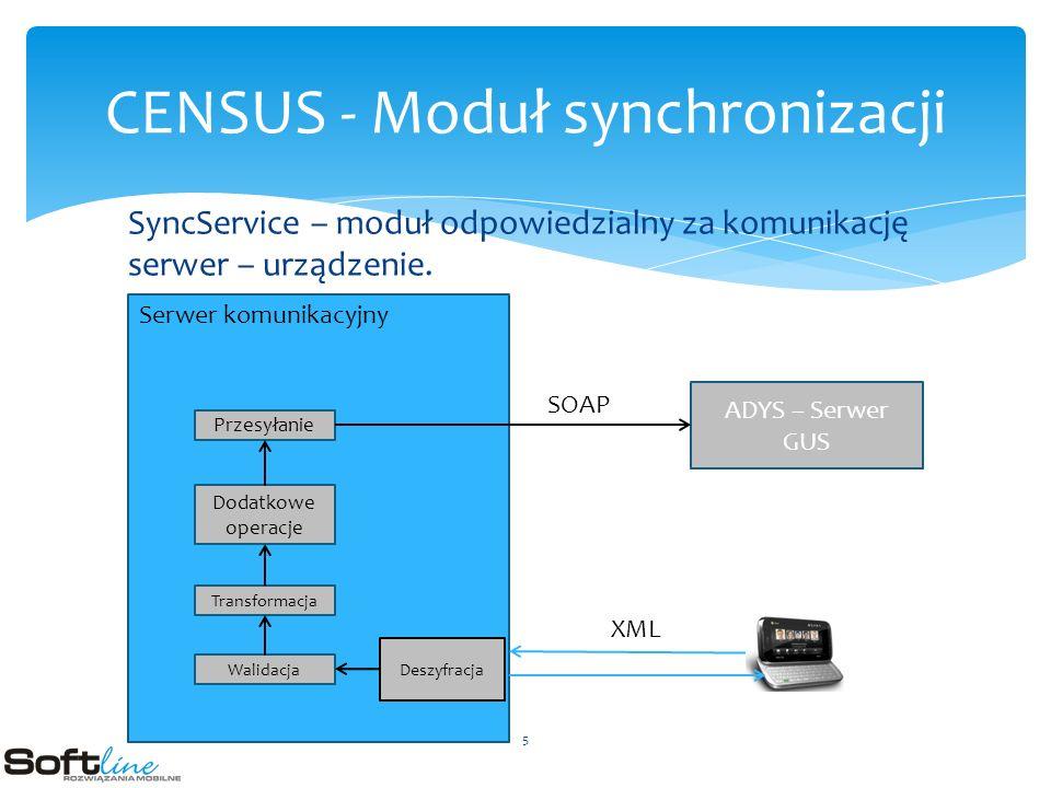 SyncService – moduł odpowiedzialny za komunikację serwer – urządzenie.