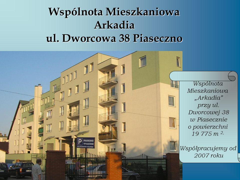 Wspólnota Mieszkaniowa Arkadia ul. Dworcowa 38 Piaseczno Wspólnota Mieszkaniowa Arkadia przy ul. Dworcowej 38 w Piasecznie o powierzchni 19 775 m 2, W