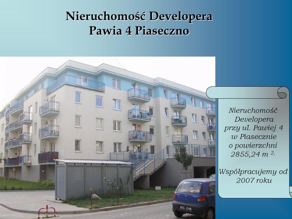 Nieruchomość Developera Pawia 4 Piaseczno Nieruchomość Developera przy ul. Pawiej 4 w Piasecznie o powierzchni 2855,24 m 2, Współpracujemy od 2007 rok