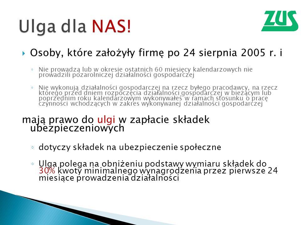 Osoby, które założyły firmę po 24 sierpnia 2005 r.