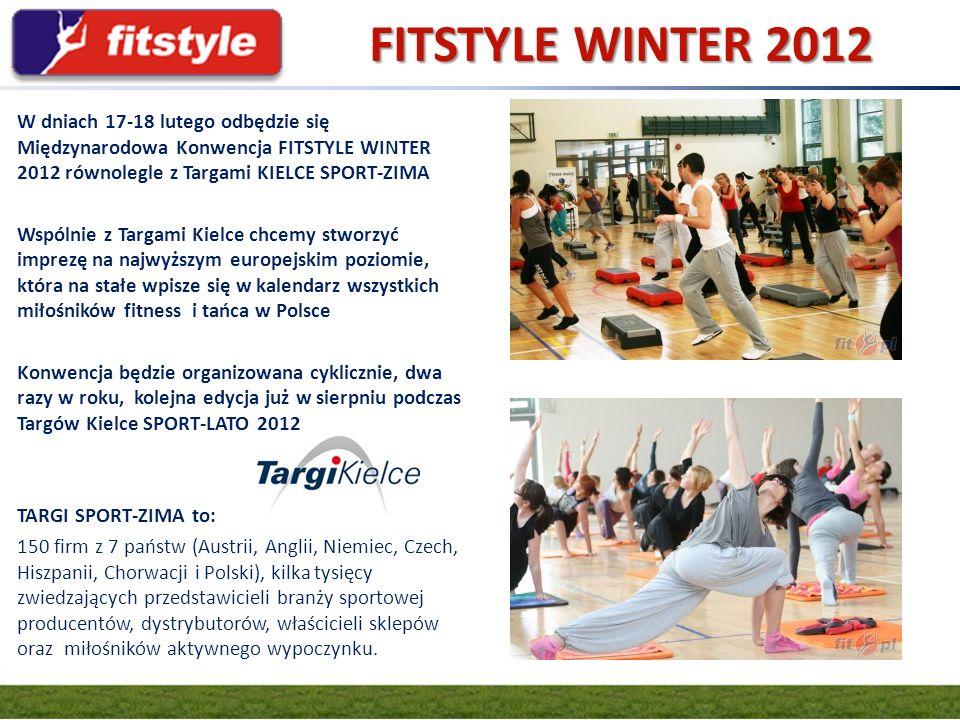 W dniach 17-18 lutego odbędzie się Międzynarodowa Konwencja FITSTYLE WINTER 2012 równolegle z Targami KIELCE SPORT-ZIMA Wspólnie z Targami Kielce chce