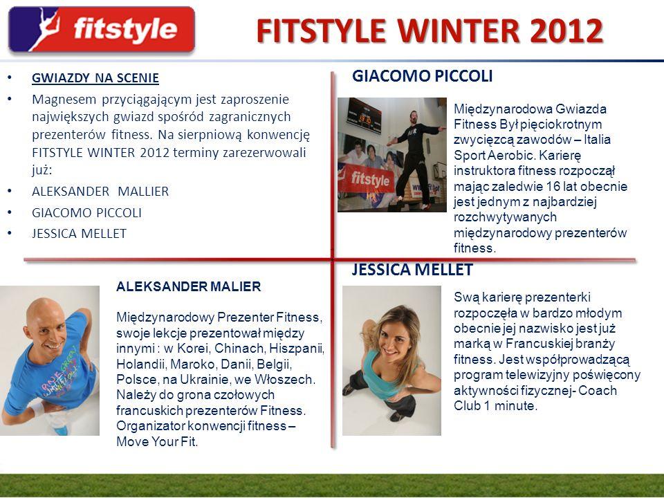 GRUPA FIT.PL FITSTYLE WINTER 2012 GWIAZDY NA SCENIE Magnesem przyciągającym jest zaproszenie największych gwiazd spośród zagranicznych prezenterów fit