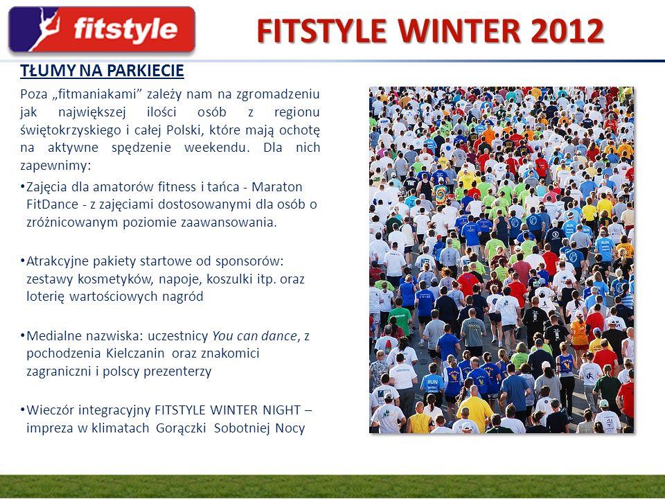 GRUPA FIT.PL FITSTYLE WINTER 2012 SCENA GŁÓWNA Lekcje z kadrą międzynarodową i czołowymi polskimi prezenterami.