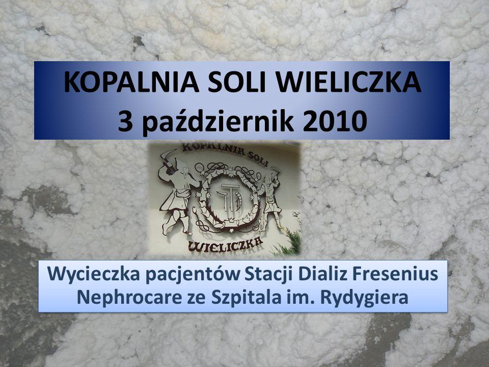 KOPALNIA SOLI WIELICZKA 3 październik 2010 Wycieczka pacjentów Stacji Dializ Fresenius Nephrocare ze Szpitala im. Rydygiera