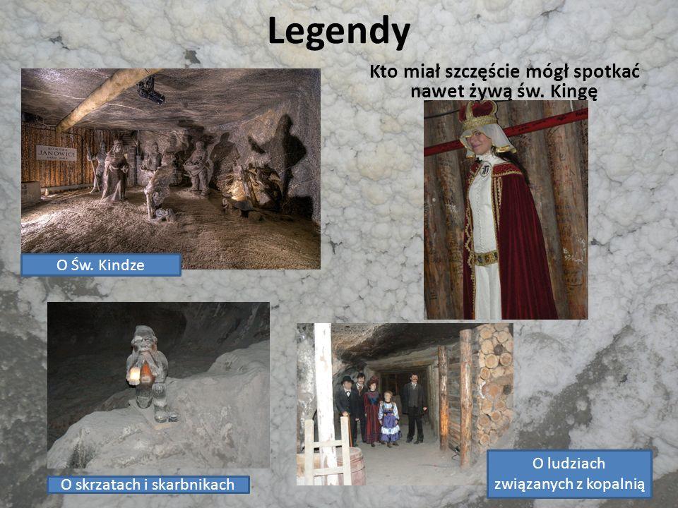 Legendy Kto miał szczęście mógł spotkać nawet żywą św. Kingę O Św. Kindze O skrzatach i skarbnikach O ludziach związanych z kopalnią