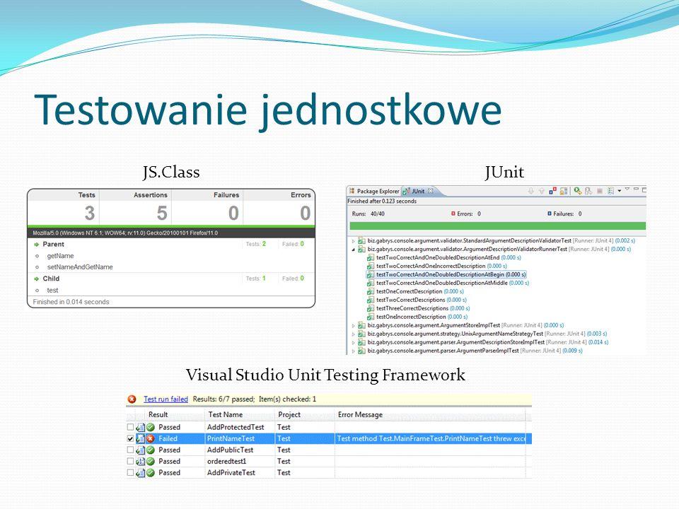 Testowanie jednostkowe Visual Studio Unit Testing Framework JS.ClassJUnit
