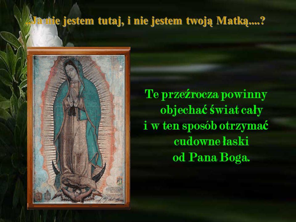 Drodzy moi przyjaciele, musz ę wam powiedzie ć, ż e Matka Bo ż a z Guadalupe jest pot ęż na w swojej mocy i zawsze jest z nami gdziekolwiek b ę dziemy
