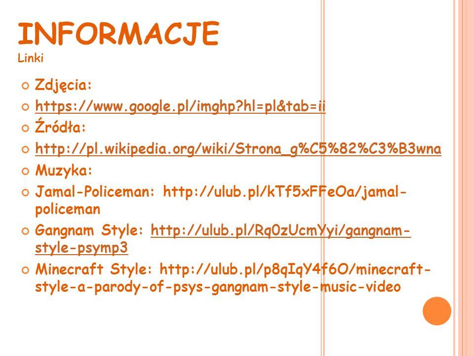 TUTAJ MOŻESZ ODSŁUCHAĆ PARĘ PIOSENEK Wystarczy, że klikniesz na któryś głośnik Jamal-PolicemanGangnam-Style Minecraft Style