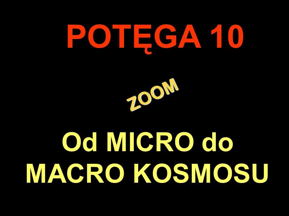 . ZOOM ZOOM POTĘGA 10 Od MICRO do MACRO KOSMOSU