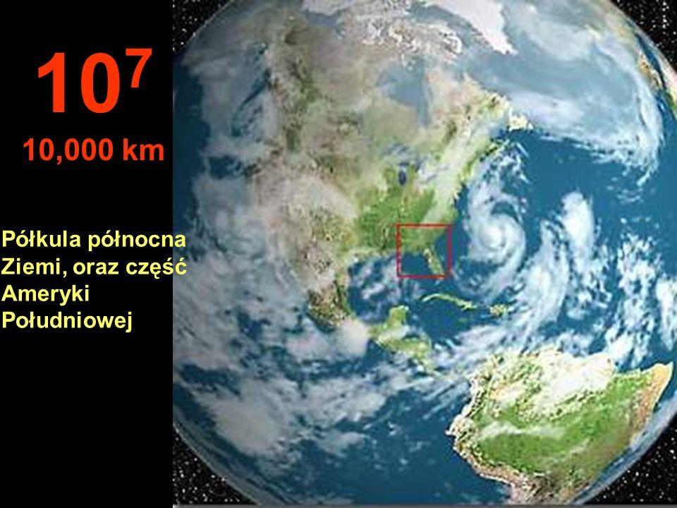 Typowy widok z satelity 10 6 1,000 km