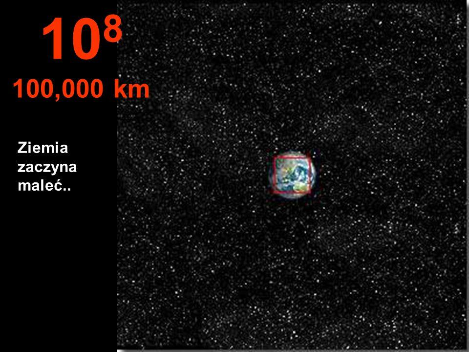 Półkula północna Ziemi, oraz część Ameryki Południowej 10 7 10,000 km