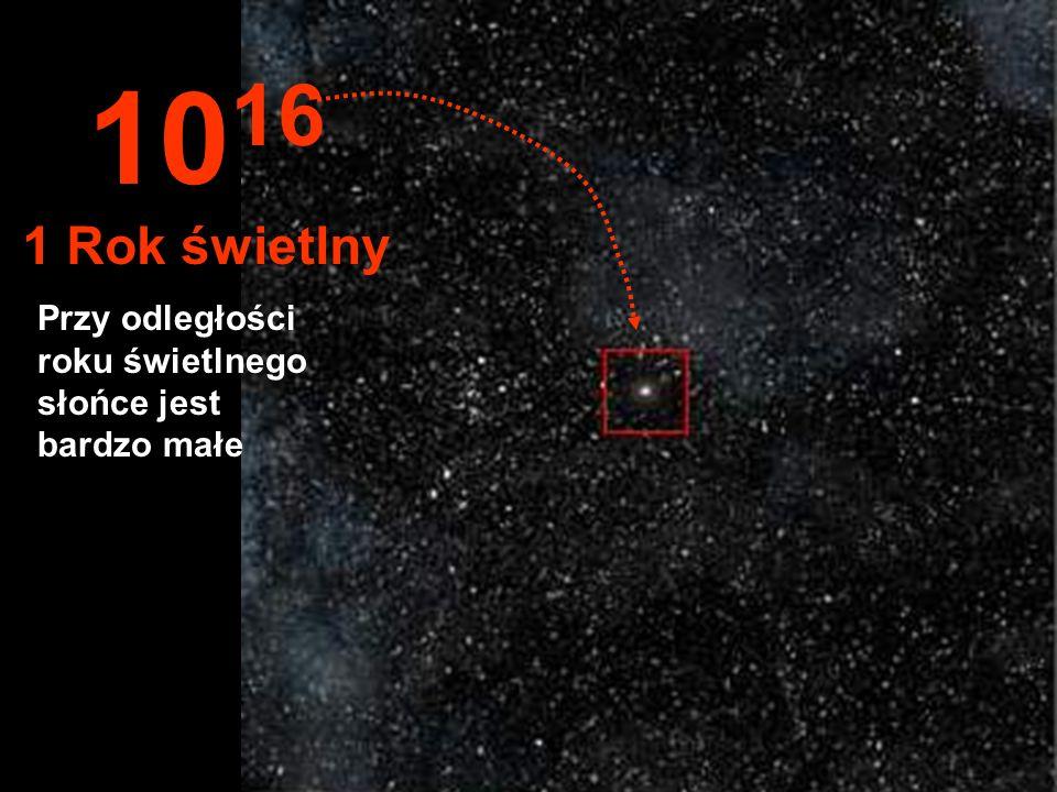 Słońce teraz to mały hotel w środku tysięcy gwiazd... 10 15 1 Bilion km