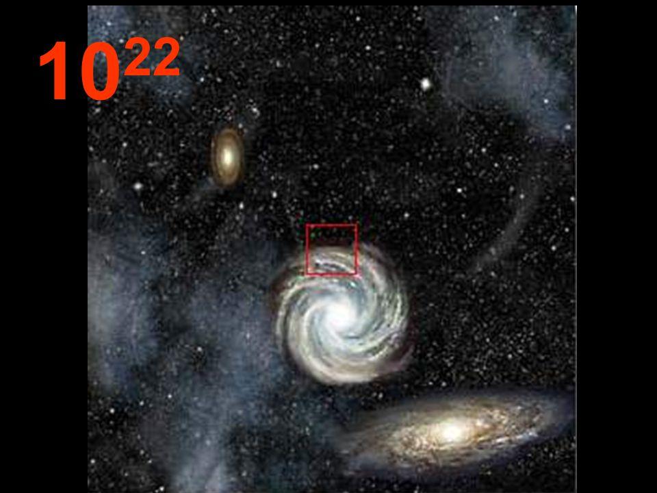 Z tej odległości, wszystkie galaktyki wyglądają małe z ogromnymi pustymi przestrzeniami pomiędzy nimi. Te same prawa rządzą wszystkimi częściami Wszec
