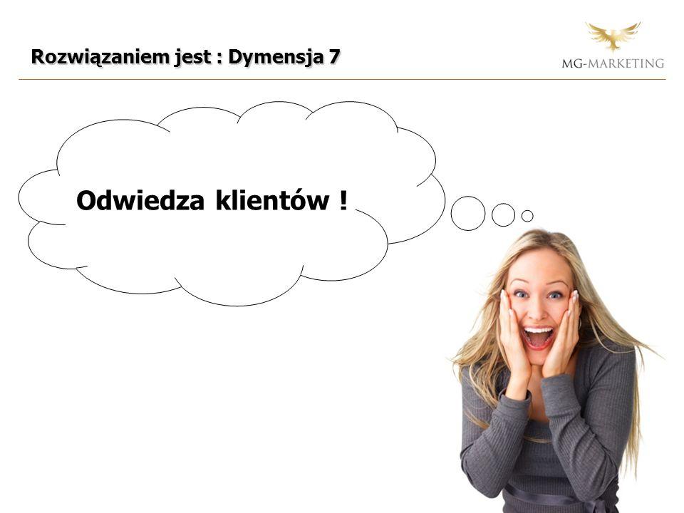 Rozwiązaniem jest : Dymensja 7 Odwiedza klientów !