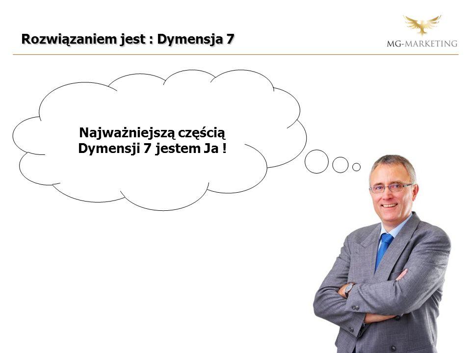 Najważniejszą częścią Dymensji 7 jestem Ja ! Rozwiązaniem jest : Dymensja 7
