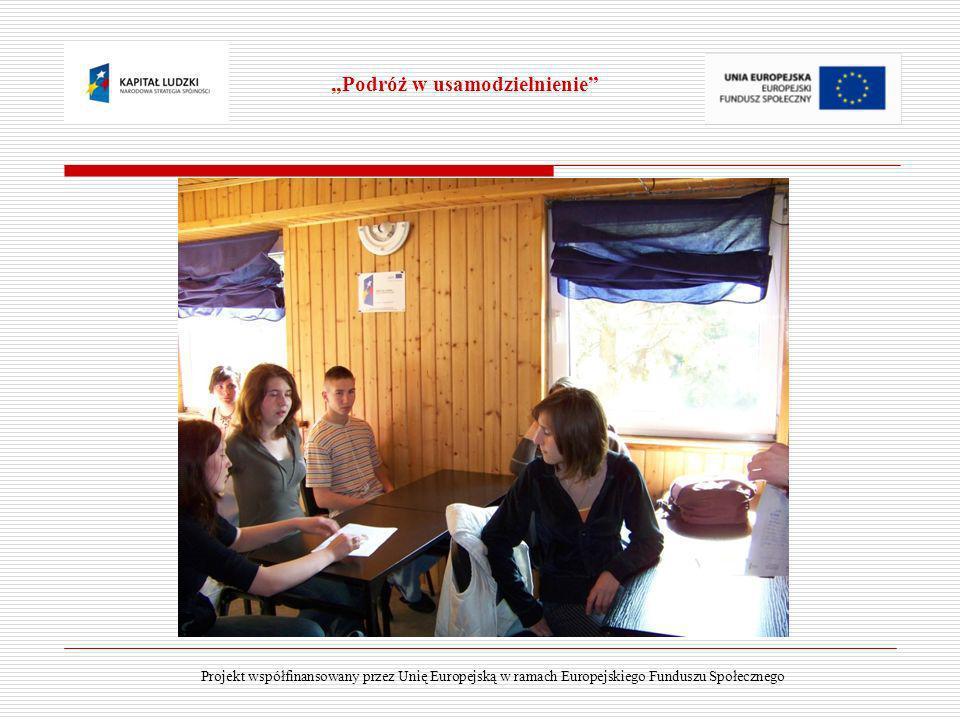 Projekt współfinansowany przez Unię Europejską w ramach Europejskiego Funduszu Społecznego Podróż w usamodzielnienie