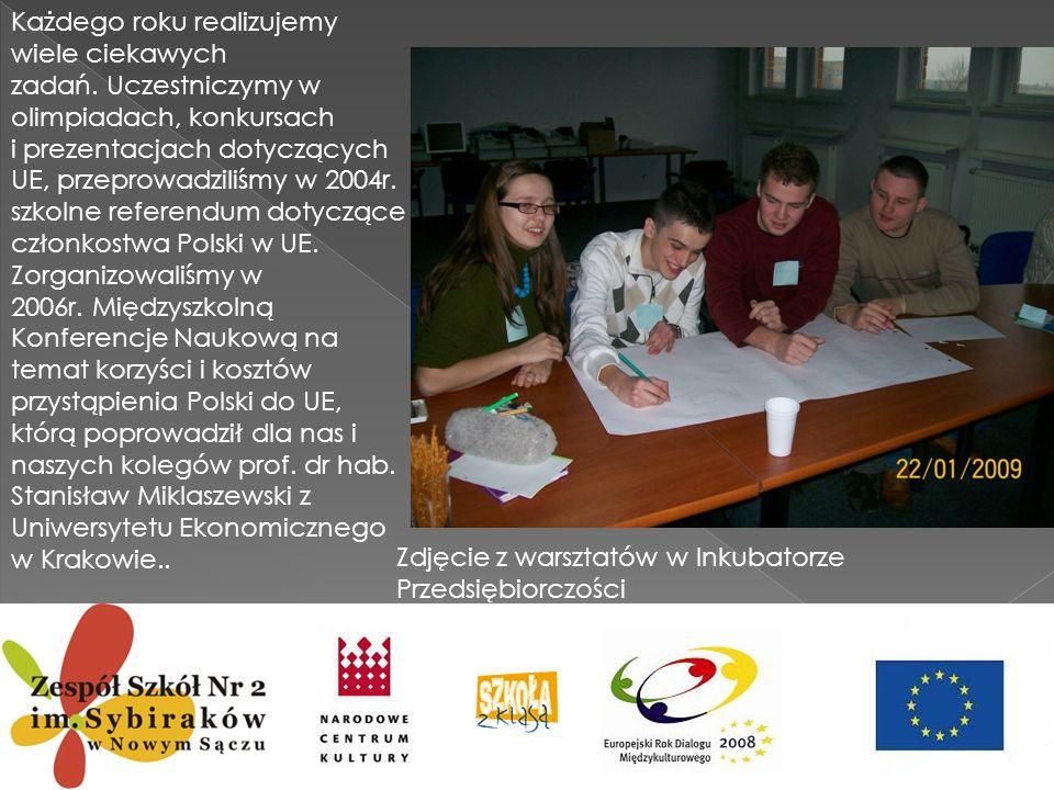 Ponadto nasza grupa zakwalifikowała się do ogólnopolskiego projektu pod patronatem Małopolskiego Instytutu Kultury w Krakowie: Małopolska Wielu Kultur .