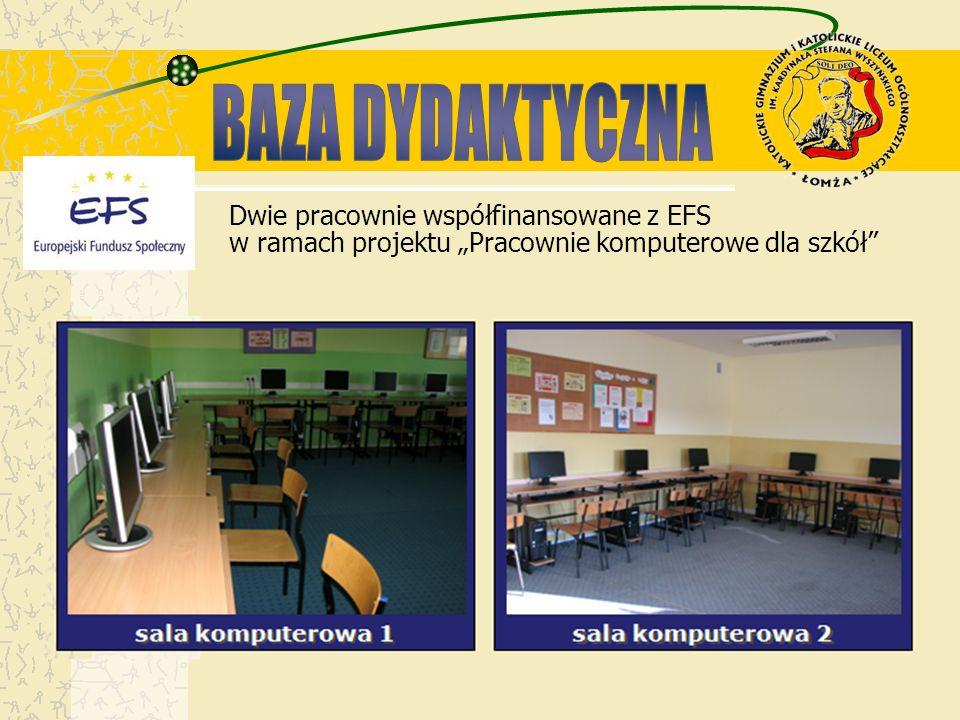 Dwie pracownie współfinansowane z EFS w ramach projektu Pracownie komputerowe dla szkół