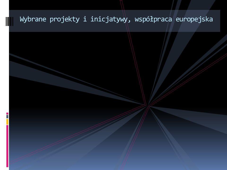 Wybrane projekty i inicjatywy, współpraca europejska