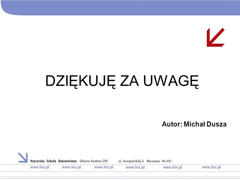 DZIĘKUJĘ ZA UWAGĘ Autor: Michał Dusza