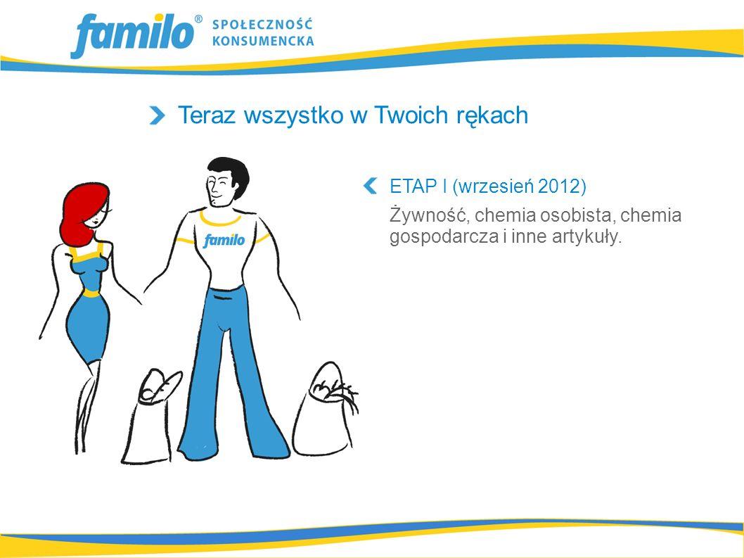 Teraz wszystko w Twoich rękach ETAP I (wrzesień 2012) Żywność, chemia osobista, chemia gospodarcza i inne artykuły.