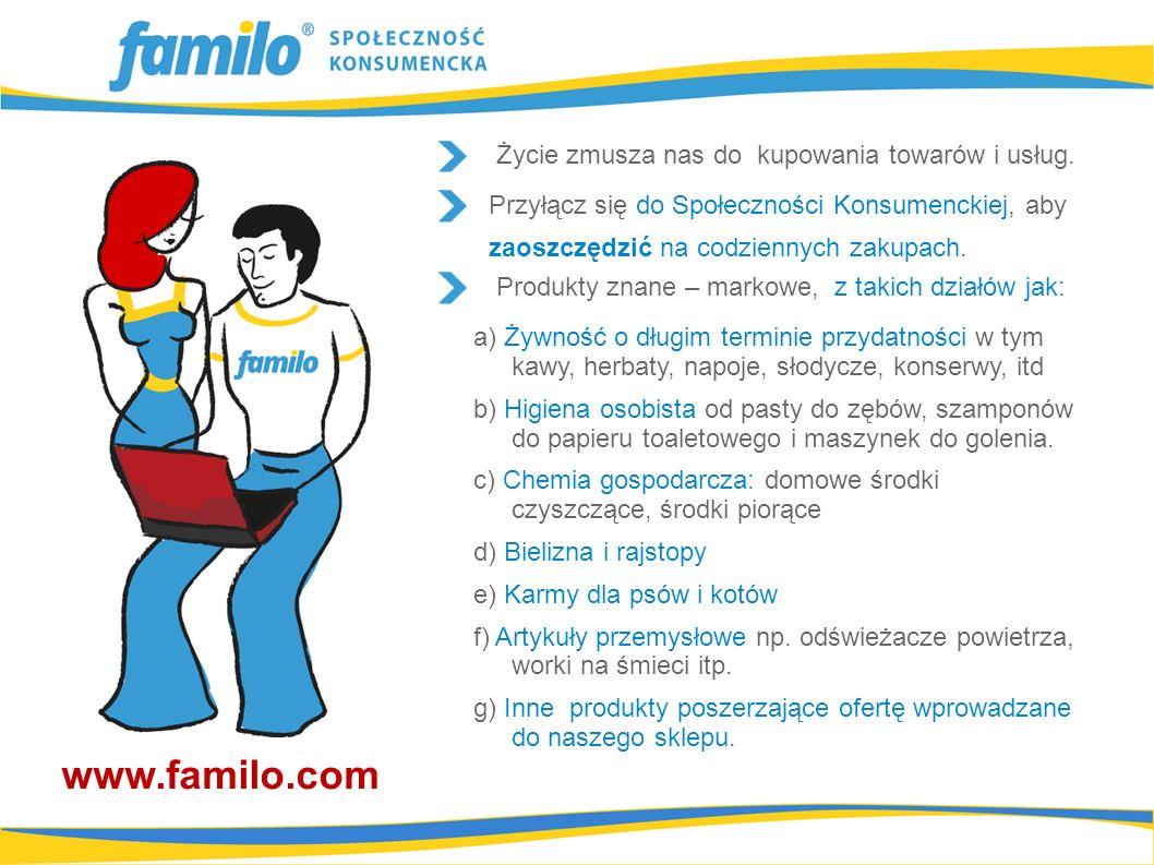 Możesz potraktować Familo jako swój sklep internetowy, który umożliwia Ci uzyskanie znaczących dochodów.