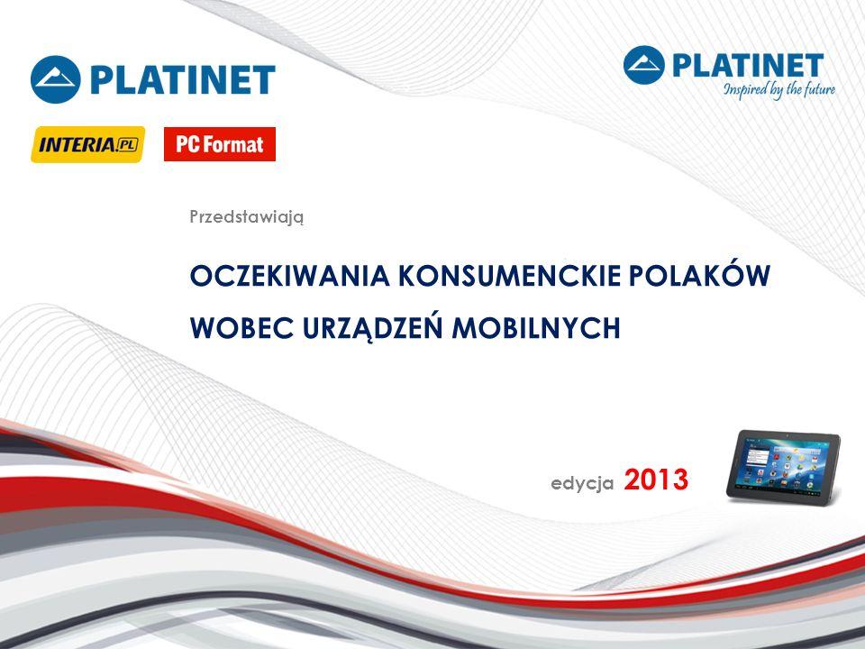Źródło danych Dane do badania pozyskano na podstawie analizy statystycznej odpowiedzi nadesłanych w ramach symulacji konkursowej Stwórz tablet doskonały Grupę badawczą stanowili użytkownicy portalu Nowe Technologie Interia.pl oraz PC Format Badanie prowadzono w dniach od 6 marca 2013 r.