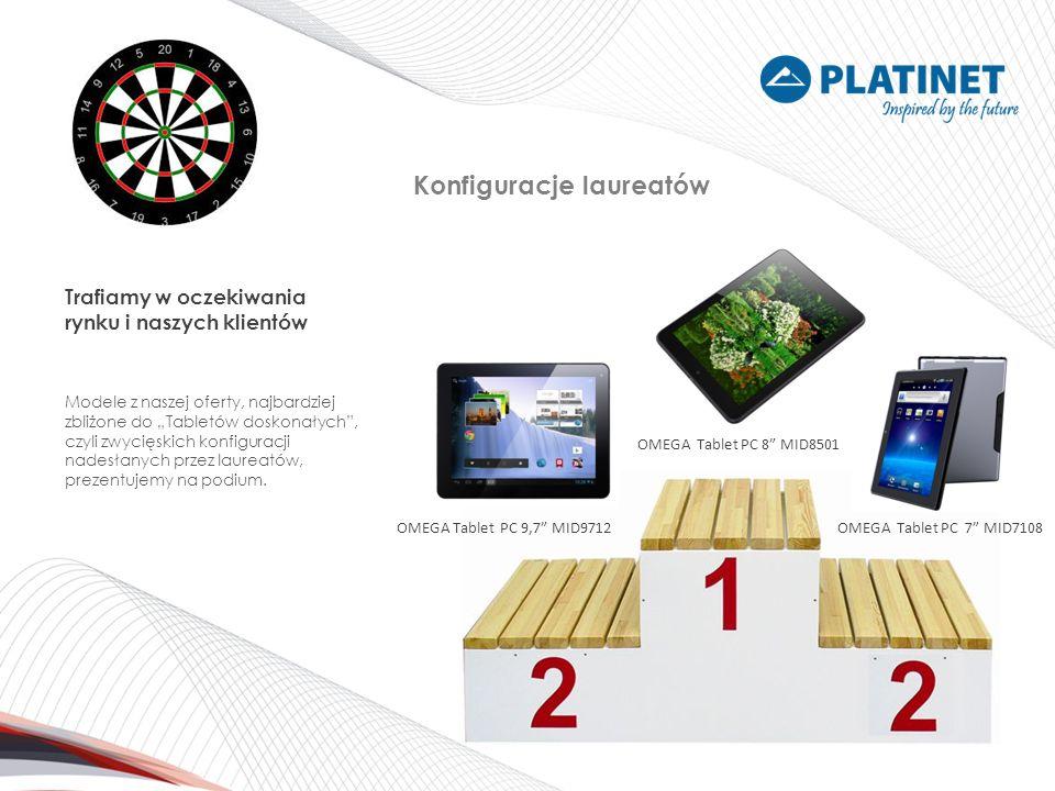 Konfiguracje laureatów OMEGA Tablet PC 9,7 MID9712OMEGA Tablet PC 7 MID7108 OMEGA Tablet PC 8 MID8501 Trafiamy w oczekiwania rynku i naszych klientów