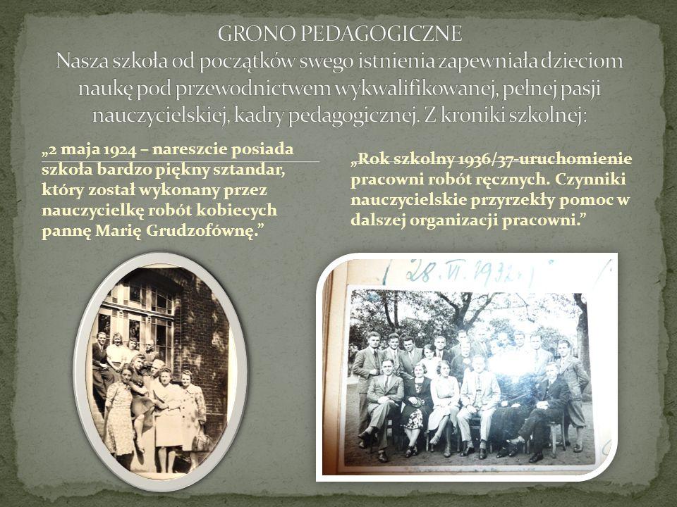 Rok szkolny 1936/37-uruchomienie pracowni robót ręcznych. Czynniki nauczycielskie przyrzekły pomoc w dalszej organizacji pracowni. 2 maja 1924 – nares