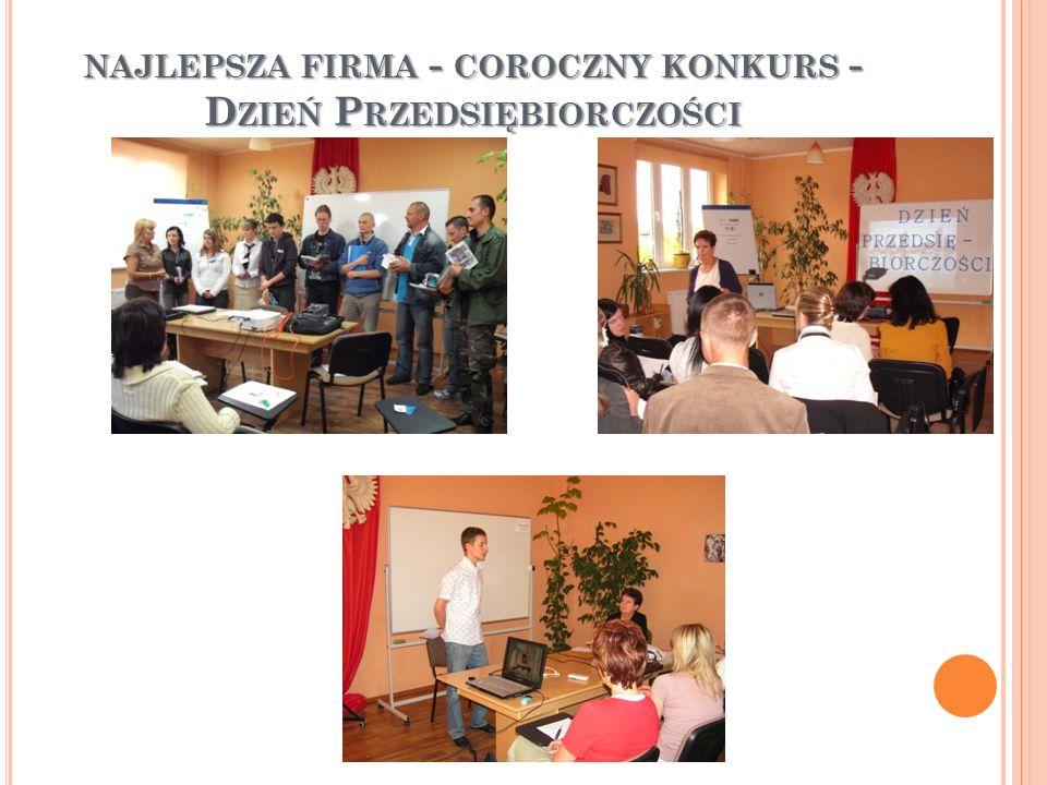NAJLEPSZA FIRMA - COROCZNY KONKURS - D ZIEŃ P RZEDSIĘBIORCZOŚCI