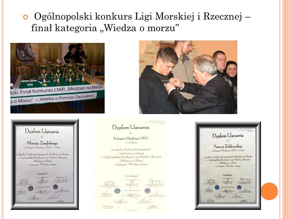Ogólnopolski konkurs Ligi Morskiej i Rzecznej – finał kategoria Wiedza o morzu