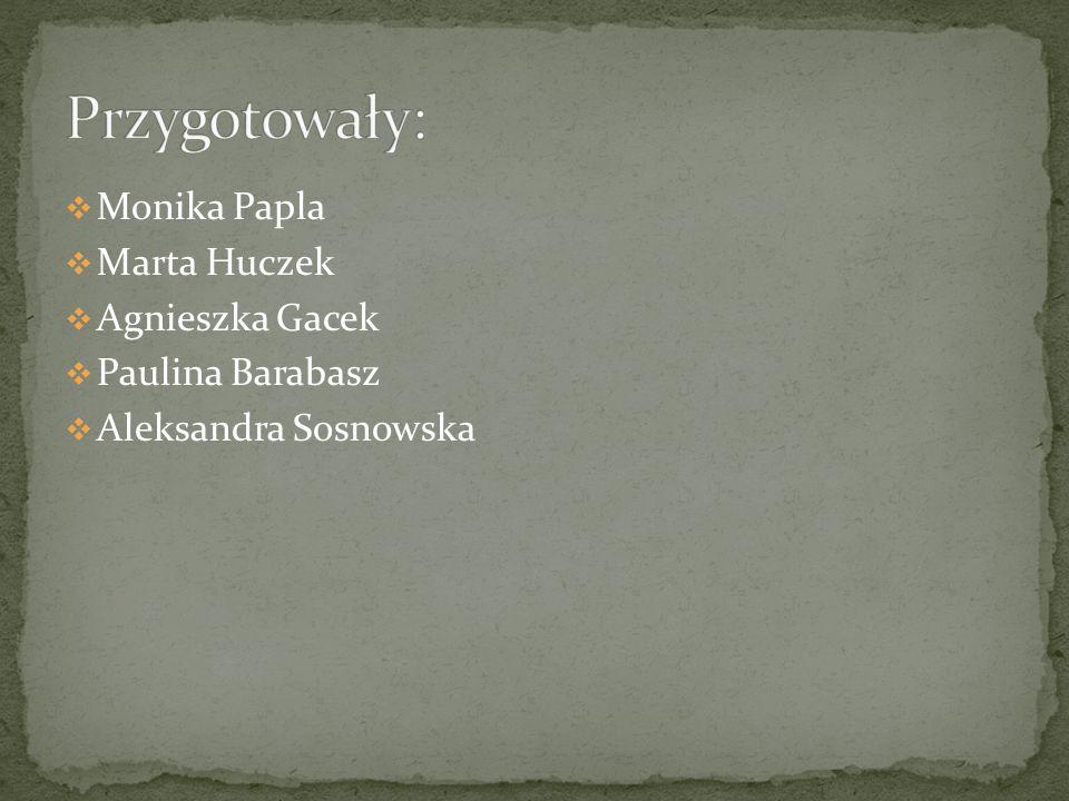 Monika Papla Marta Huczek Agnieszka Gacek Paulina Barabasz Aleksandra Sosnowska
