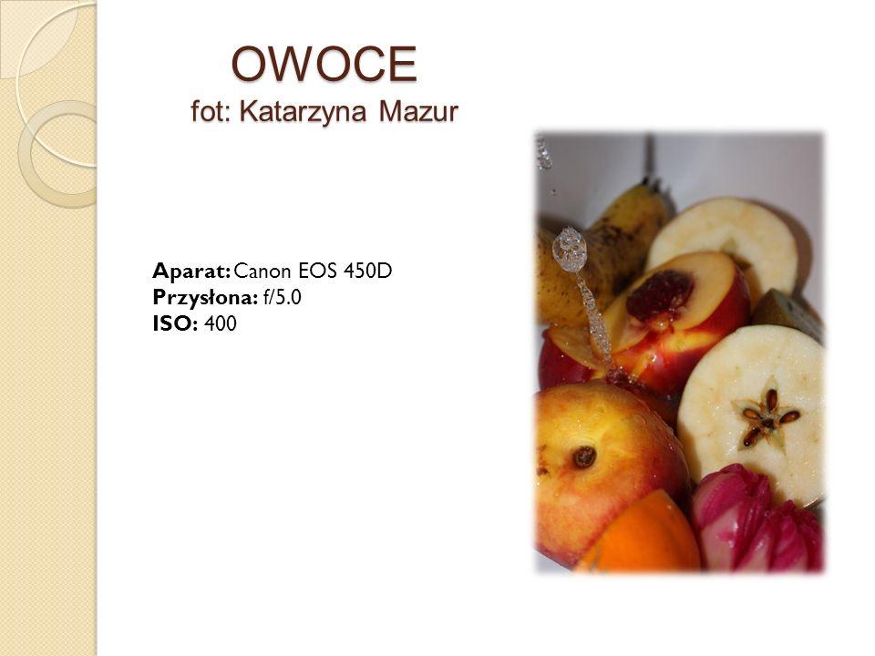 OWOCE fot: Katarzyna Mazur Aparat: Canon EOS 450D Przysłona: f/5.0 ISO: 400