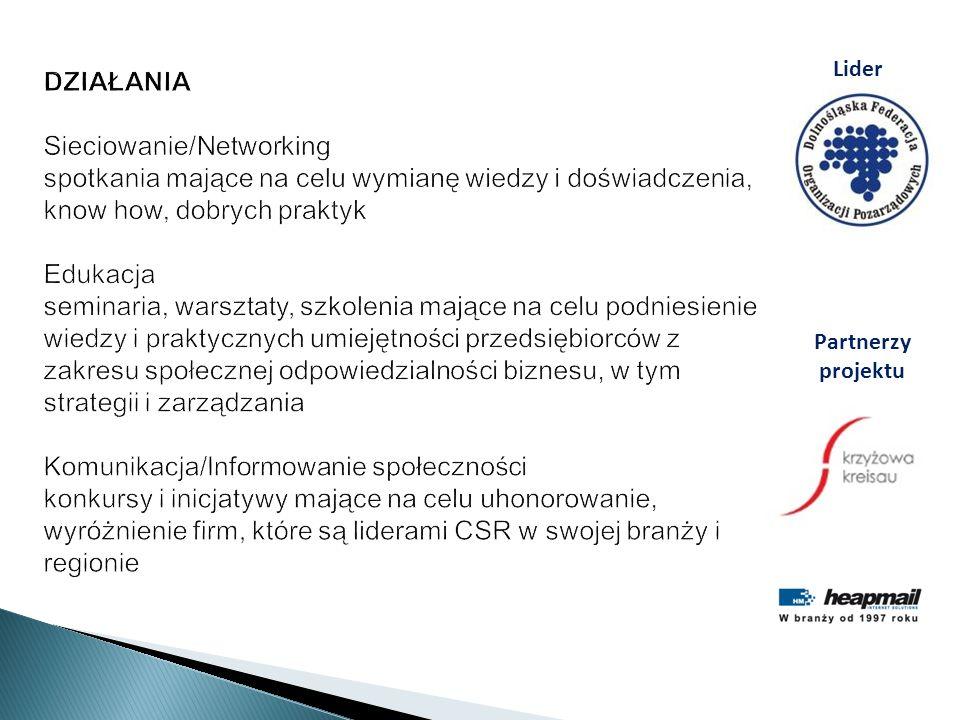 DZIAŁANIA Sieciowanie/Networking spotkania mające na celu wymianę wiedzy i doświadczenia, know how, dobrych praktyk Edukacja seminaria, warsztaty, szk