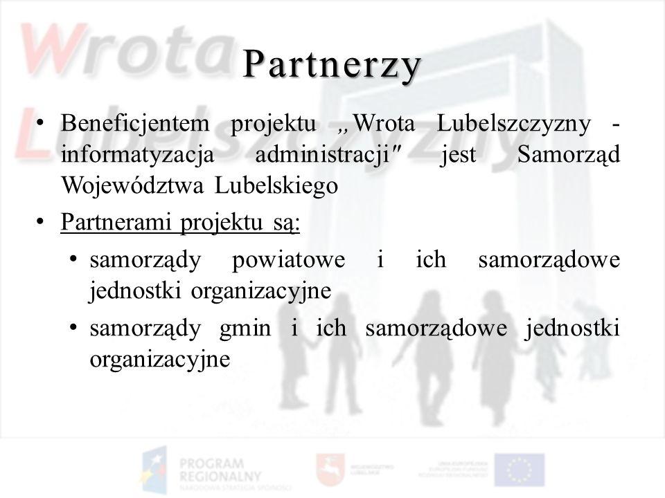 Partnerzy Beneficjentem projektu Wrota Lubelszczyzny - informatyzacja administracji