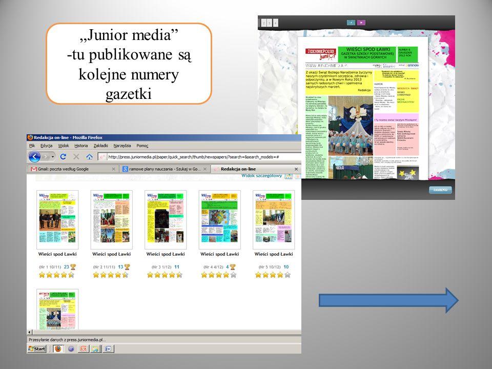 Junior media -tu publikowane są kolejne numery gazetki