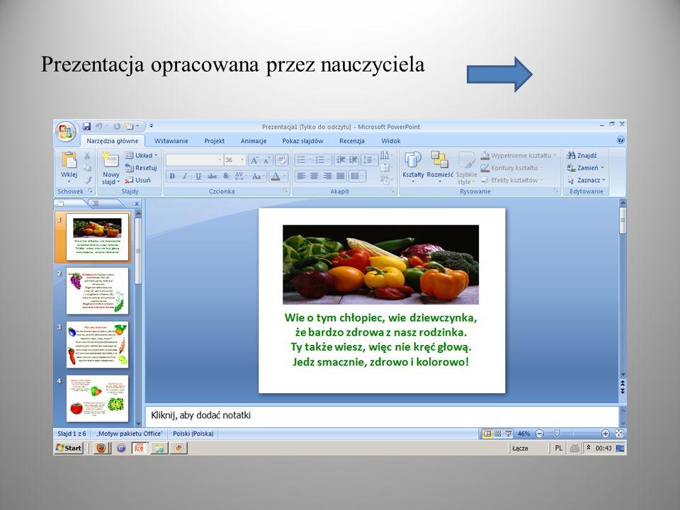 Prezentacja opracowana przez nauczyciela