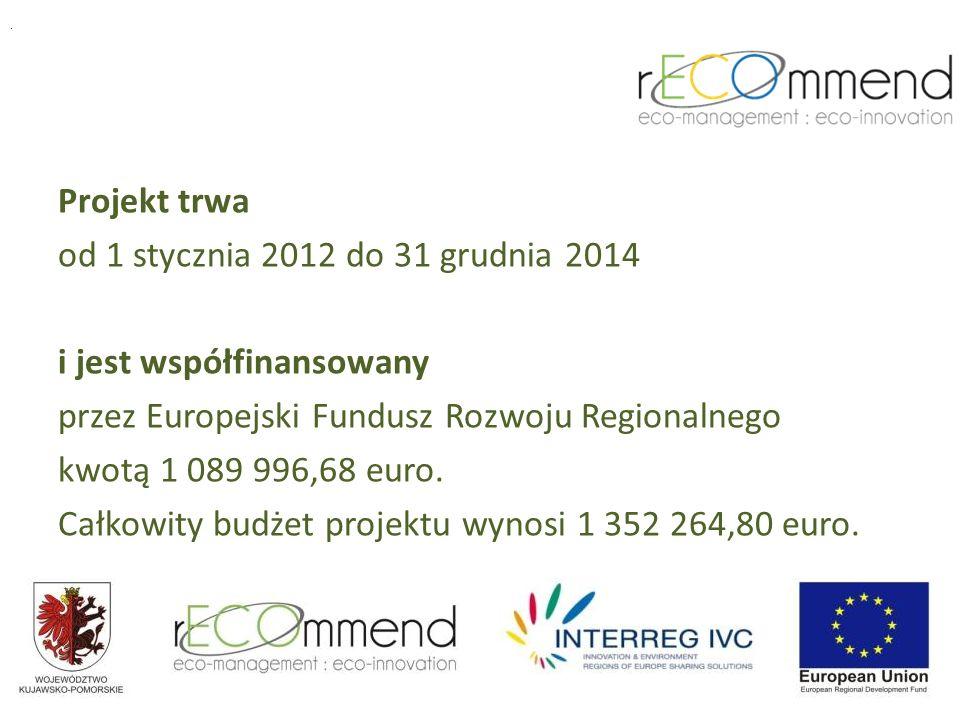 Projekt trwa od 1 stycznia 2012 do 31 grudnia 2014 i jest współfinansowany przez Europejski Fundusz Rozwoju Regionalnego kwotą 1 089 996,68 euro.