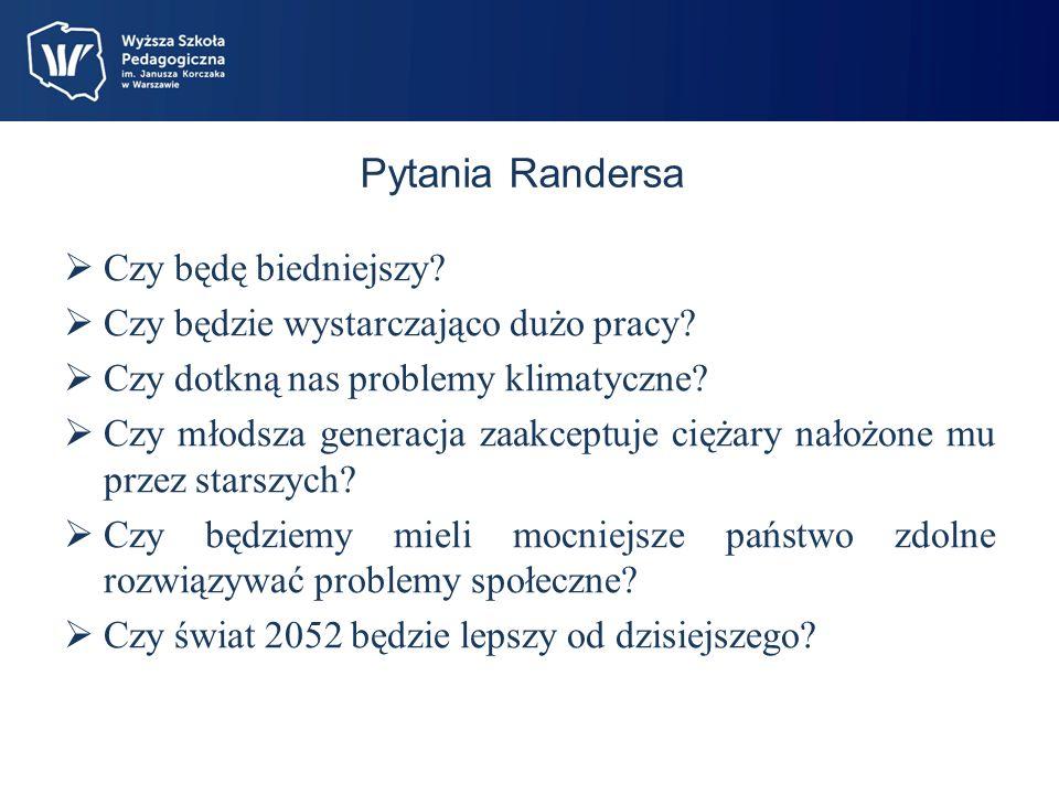 Pytania Randersa Czy będę biedniejszy.Czy będzie wystarczająco dużo pracy.