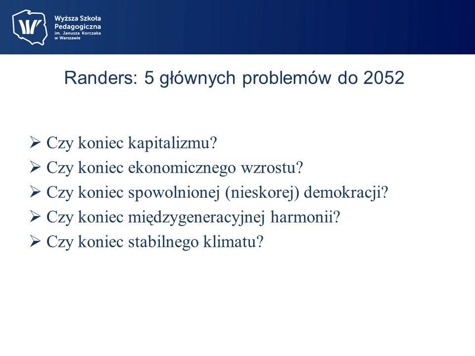 Randers: 5 głównych problemów do 2052 Czy koniec kapitalizmu.