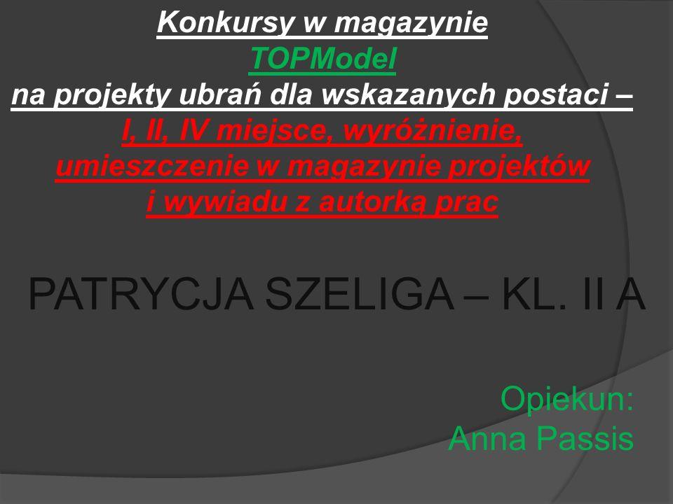 Kacper Markowicz – kl.I a Kacper Kilański – kl. I d Iga Delinowska – kl.