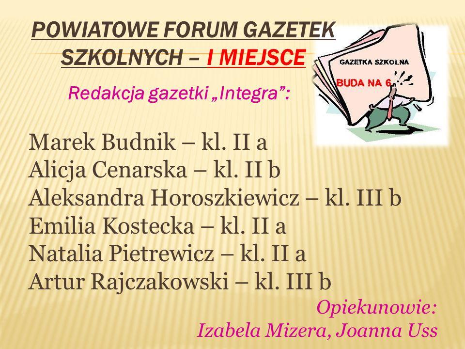 Powiatowy Konkurs Warto być dawcą – III miejsce Karolina Zielińska – kl.