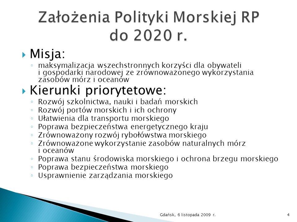 Ministerstwo Infrastruktury Wydział Polityki Morskiej Tel.: (22) 630 19 77 E-mail: mstyczynski@mi.gov.plmstyczynski@mi.gov.pl Gdańsk, 6 listopada 2009 r.15