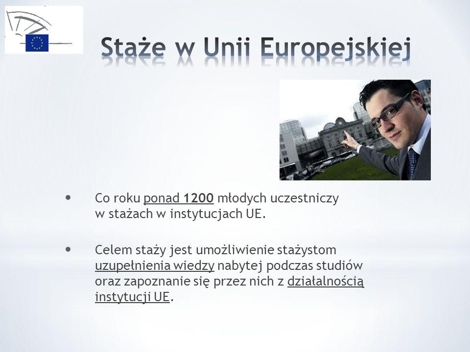 Co roku ponad 1200 młodych uczestniczy w stażach w instytucjach UE.