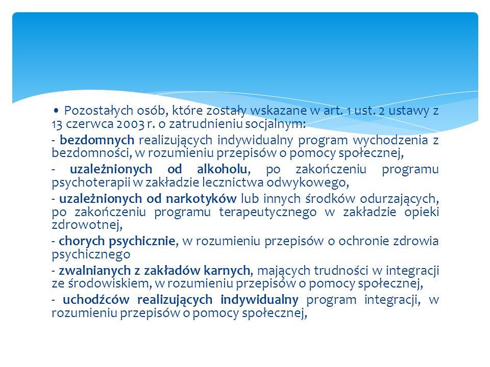 Warunki zatrudnienia osób określonych w art.29 ust.
