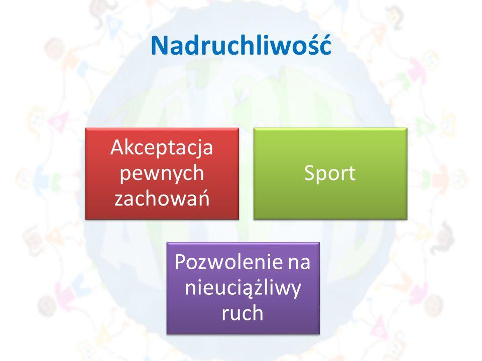 Nadruchliwość Akceptacja pewnych zachowań Sport Pozwolenie na nieuciążliwy ruch