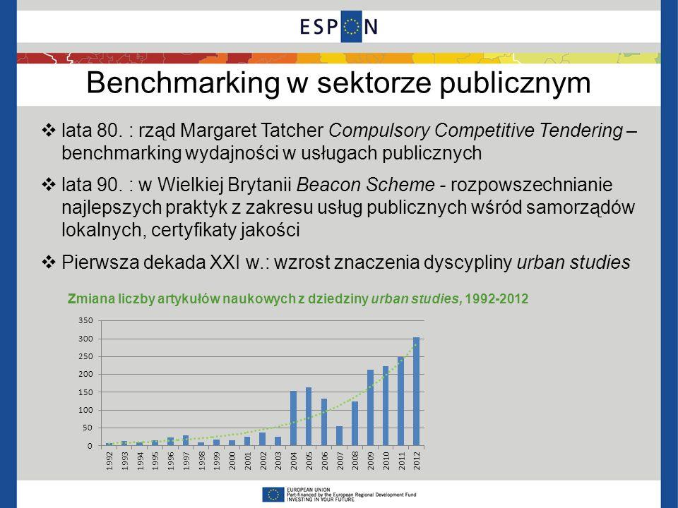 Benchmarking w sektorze publicznym lata 80. : rząd Margaret Tatcher Compulsory Competitive Tendering – benchmarking wydajności w usługach publicznych