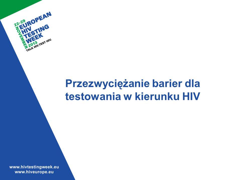 Przezwyciężanie barier dla testowania w kierunku HIV