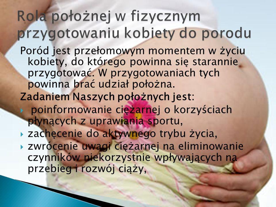 Poród jest przełomowym momentem w życiu kobiety, do którego powinna się starannie przygotować. W przygotowaniach tych powinna brać udział położna. Zad